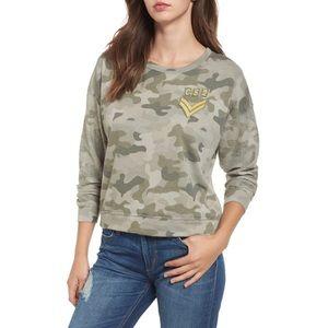 NWT Rails Kelli Camo Print Sweatshirt Oversized S